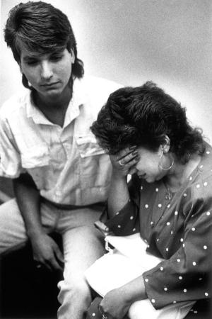August 1988 - Left, Ryan Avila with his mother Irene.  Daily News file photo